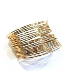 St Thomas Jewelry St Thomas Gold Tone Bangle Cuff NEW Poshmark